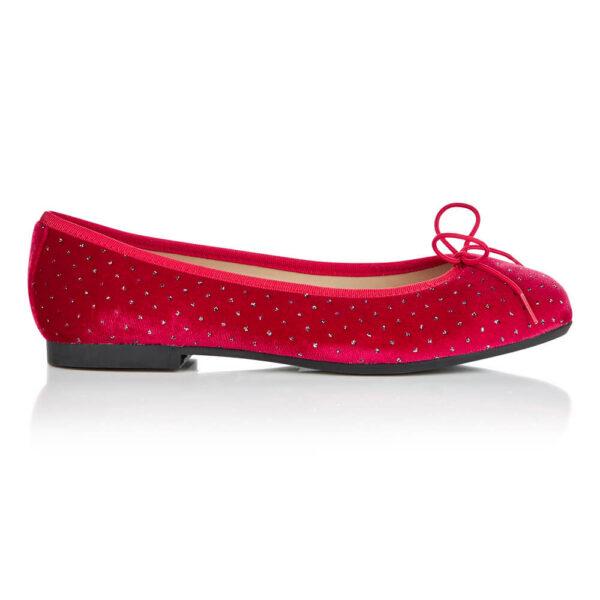 Image 1 for Amelie Red Velvet Textile (AML1111)