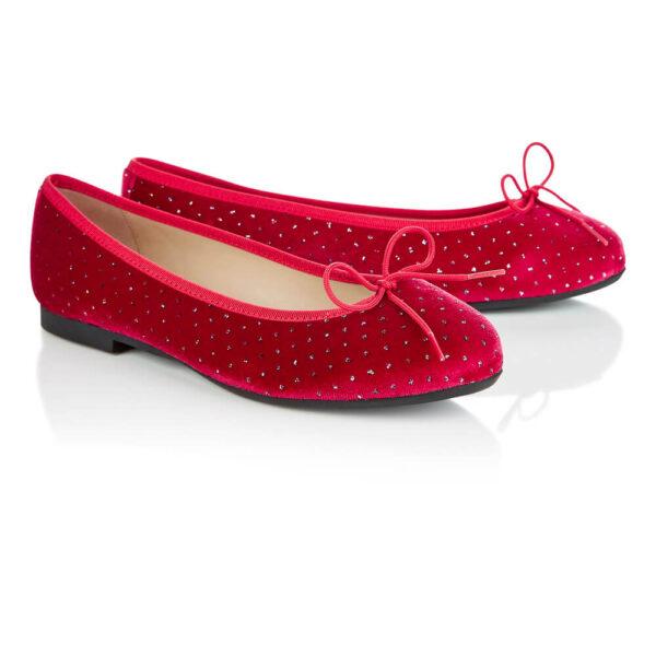 Image 4 for Amelie Red Velvet Textile (AML1111)