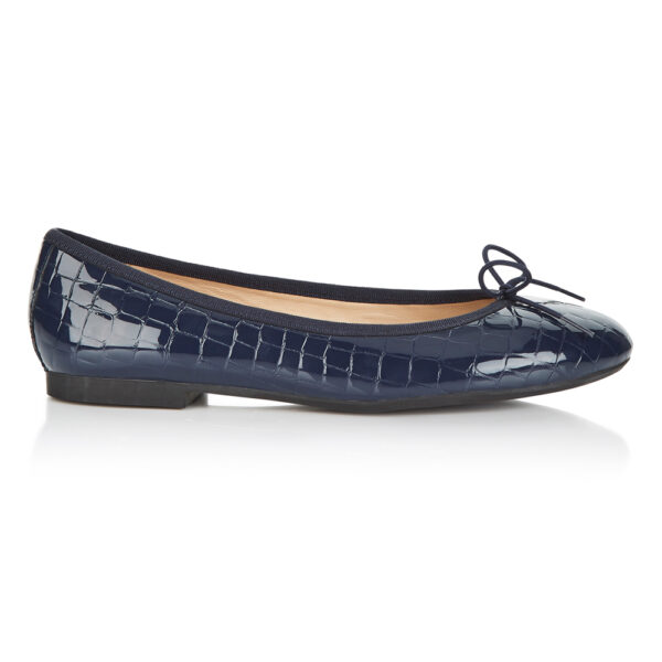 Image 1 for Amelie Navy Patent Croc (AML168)