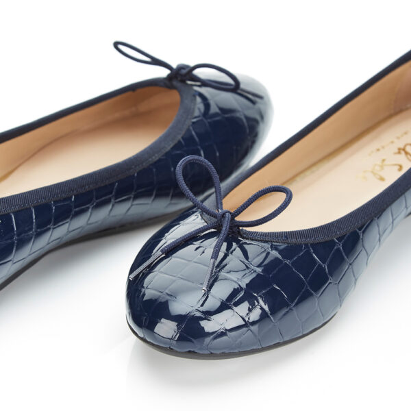 Image 2 for Amelie Navy Patent Croc (AML168)