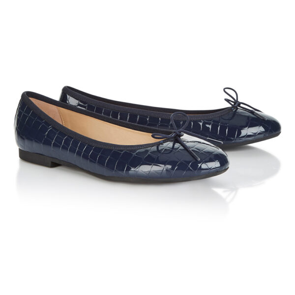 Image 4 for Amelie Navy Patent Croc (AML168)