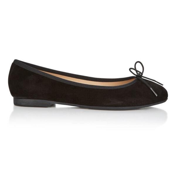 Image 1 for Amelie Black Nubuck Leather (AML358)