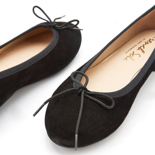 Image 2 for Amelie Black Nubuck Leather (AML358)
