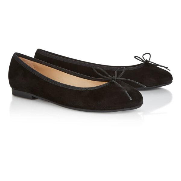Image 4 for Amelie Black Nubuck Leather (AML358)