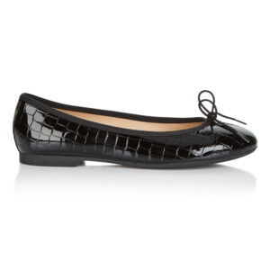 Image 1 for Amelie Black Patent Croc (AML41)