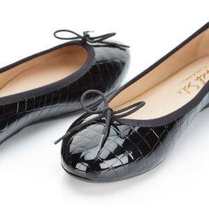 Image 2 for Amelie Black Patent Croc (AML41)