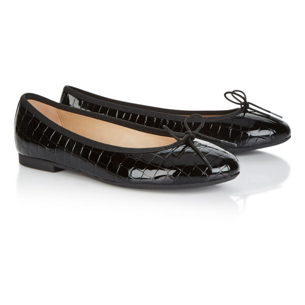 Image 4 for Amelie Black Patent Croc (AML41)