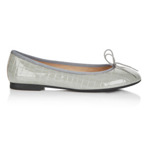 Image 1 for Amelie Grey Patent Croc (AML609)
