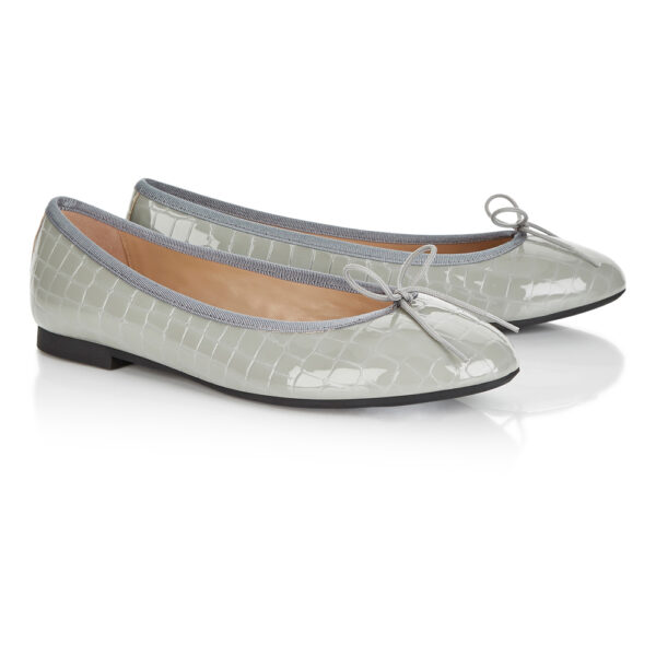 Image 4 for Amelie Grey Patent Croc (AML609)