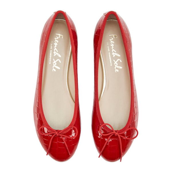 Image 3 for Amelie Red Patent Croc (AML786)