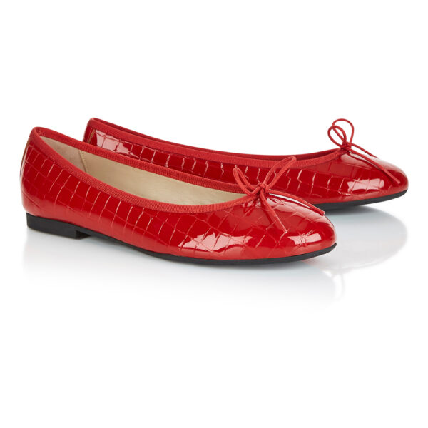 Image 4 for Amelie Red Patent Croc (AML786)