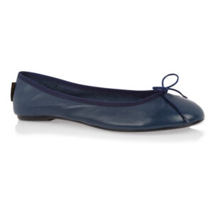 Image 1 for Classic Ballet Navy Leather (BAB02)
