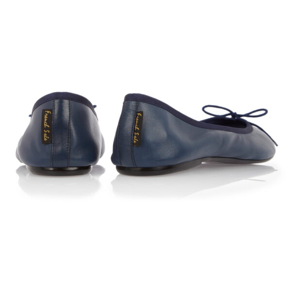 Image 4 for Classic Ballet Navy Leather (BAB02)