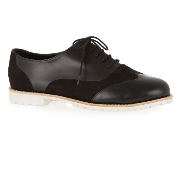 Image 1 for Brogues Black Suede And Leather (BG13)