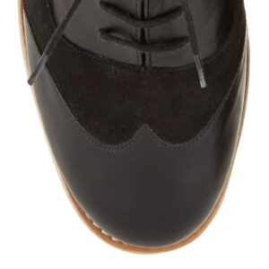 Image 2 for Brogues Black Suede And Leather (BG13)