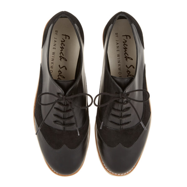 Image 3 for Brogues Black Suede And Leather (BG13)
