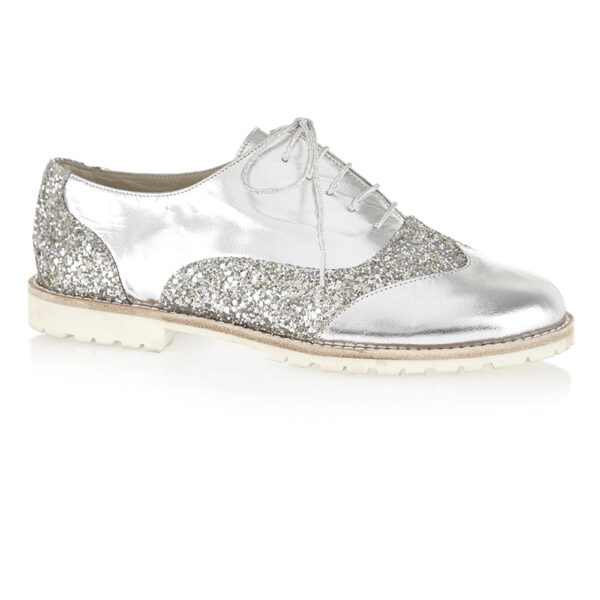Image 1 for Brogues Silver Leather (BG24)