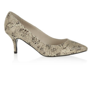 Image 1 for Brenda Heel Beige Snake Leather (BMH04)