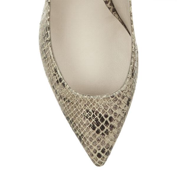 Image 2 for Brenda Heel Beige Snake Leather (BMH04)