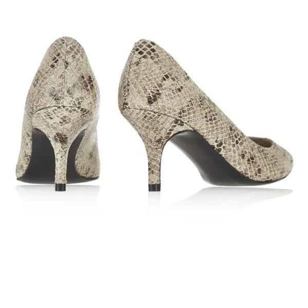 Image 4 for Brenda Heel Beige Snake Leather (BMH04)