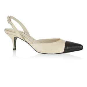 Image 1 for Brenda Heel Nude Leather With Toecap (BMH05)