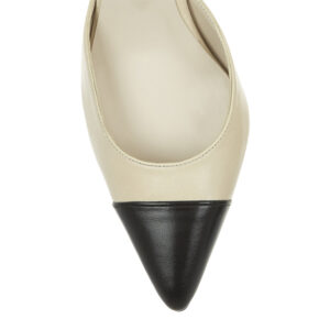 Image 2 for Brenda Heel Nude Leather With Toecap (BMH05)