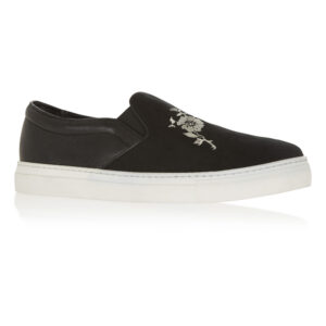 Image 1 for Board Walker Black Suede Leather Floral Emb (BW38)