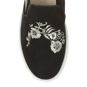 Image 2 for Board Walker Black Suede Leather Floral Emb (BW38)