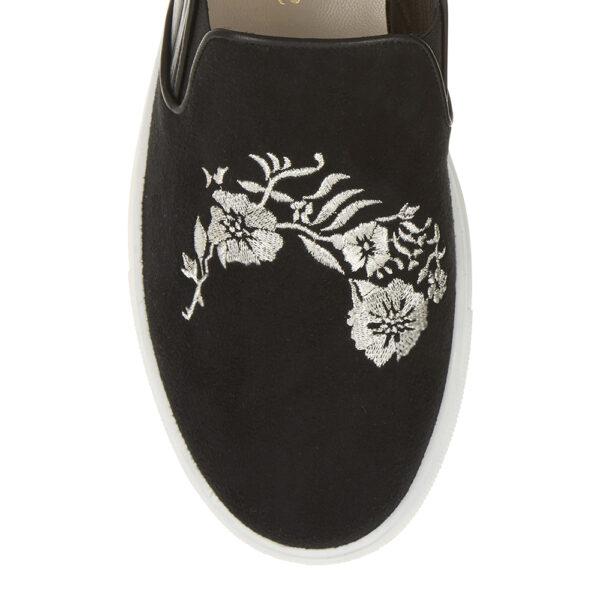 Image 2 for Board Walker Black Suede Leather Floral Emb (BW38)