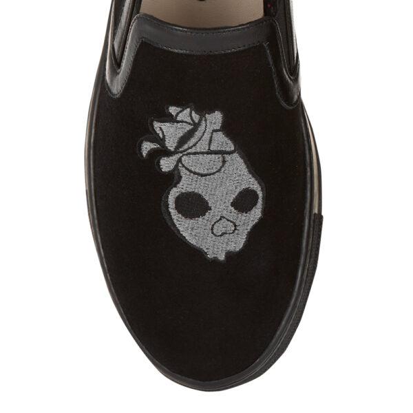 Image 2 for Board Walker Black Velvet Skull Embroidery (BW45)