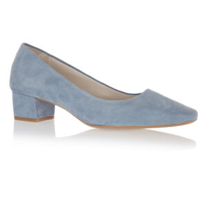 Image 1 for Carla Heel Pale Blue Suede (CAR01)