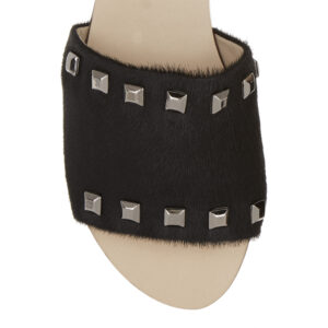 Image 2 for Crosspatch Sandal Black Calf Hair With Studs (CRS17)