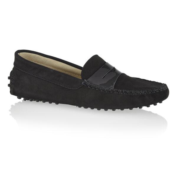 Image 1 for Driving Shoes Black Nubuck (DAL03)