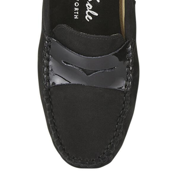 Image 2 for Driving Shoes Black Nubuck (DAL03)
