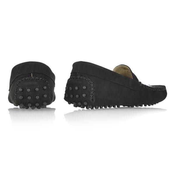Image 4 for Driving Shoes Black Nubuck (DAL03)