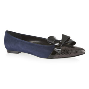 Image 1 for Penelope Navy Kid Suede (EN100)