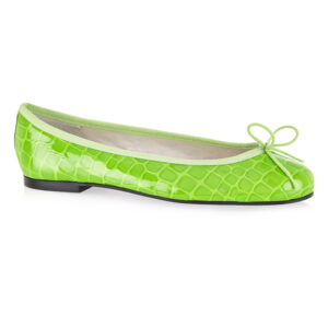 Image 1 for Henrietta Lime Green Patent Crocodile (HE1052)