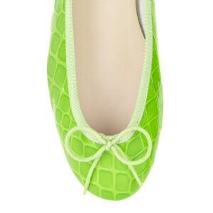 Image 2 for Henrietta Lime Green Patent Crocodile (HE1052)
