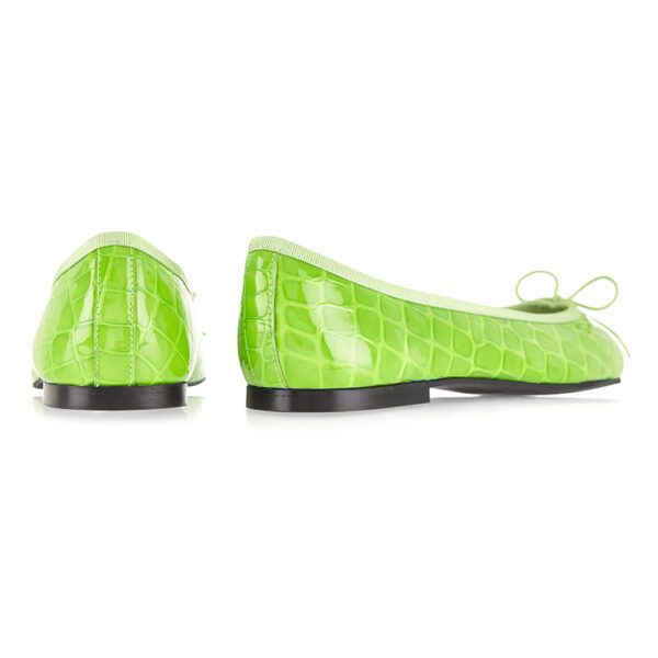 Image 4 for Henrietta Lime Green Patent Crocodile (HE1052)
