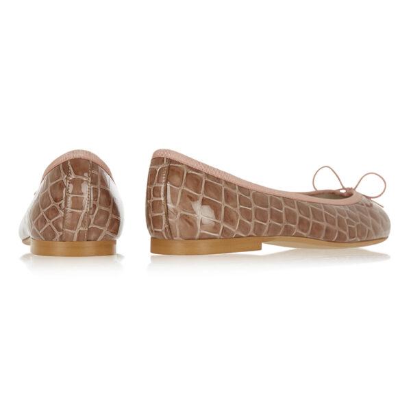 Image 4 for Henrietta Dusky Pink Patent Crocodile (HE1131)