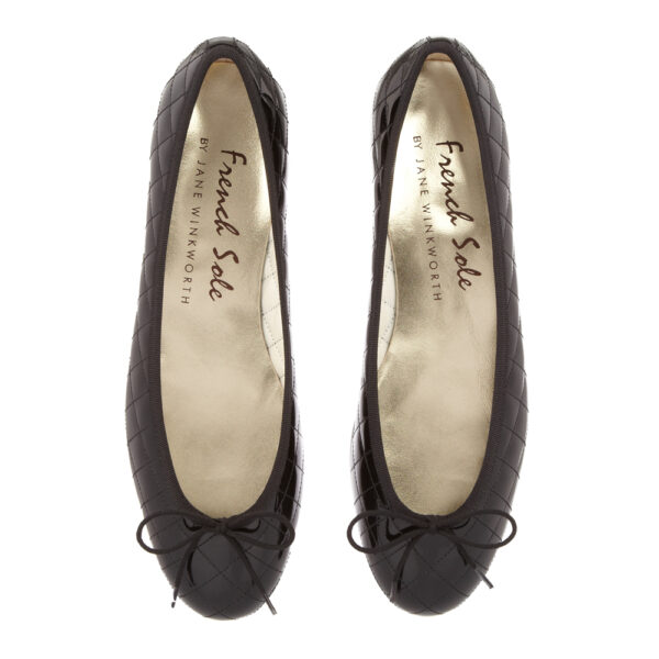 Image 2 for Henrietta Black Quilted Patent Leather (HE117)
