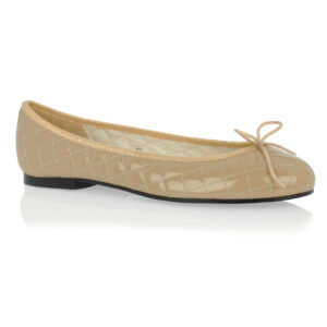 Image 1 for Henrietta Beige Quilted Patent Leather (HE166)