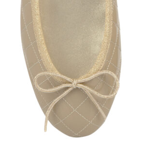 Image 2 for Henrietta Beige Quilted Patent Leather (HE166)