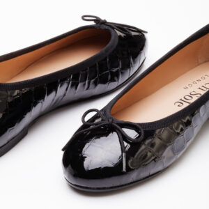 Image 2 for Henrietta Black Patent Crocodile (HE41)