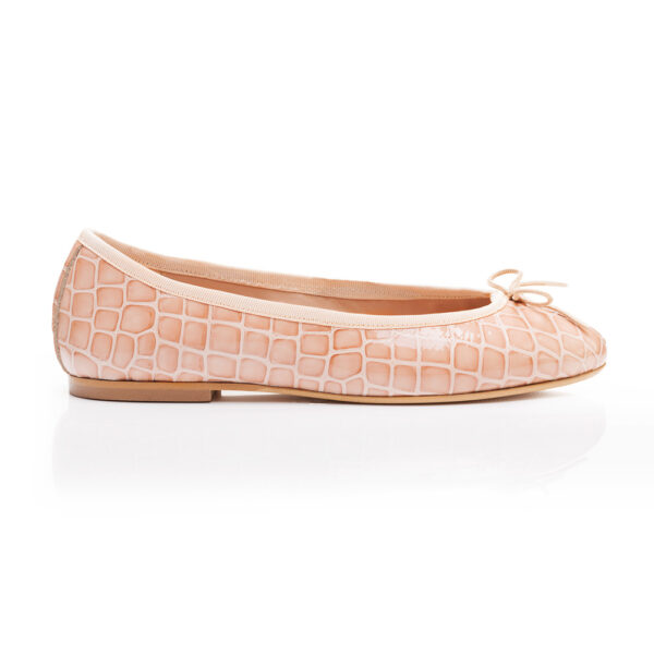 Image 1 for Henrietta Pale Pink Patent Crocodile (HE560)