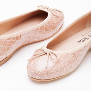 Image 2 for Henrietta Pale Pink Patent Crocodile (HE560)