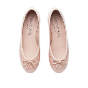 Image 3 for Henrietta Pale Pink Patent Crocodile (HE560)