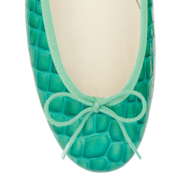 Image 2 for Henrietta Turquoise Patent Crocodile (HE571)