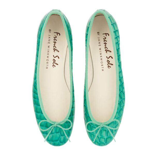 Image 3 for Henrietta Turquoise Patent Crocodile (HE571)