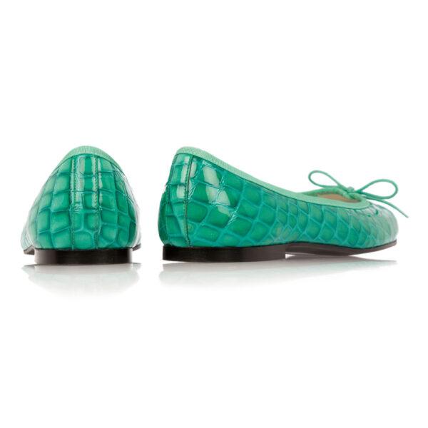 Image 4 for Henrietta Turquoise Patent Crocodile (HE571)